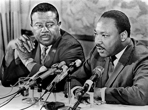 Ralph Abernathy and Martin Luther King Jr.
