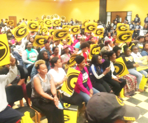 ZAPHANY BANKS/Courtesy photo Highschoolers and parents showing their support of the Grambling legacy.