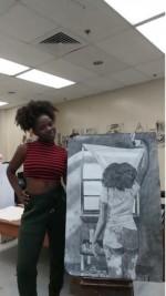 Woods' artwork dazzles friends, faculty