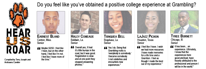 Talk Back: Do you feel like you've obtained a positive college experience at Grambling?