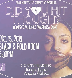 Favrot Student Union Board hosts  domestic violence awareness seminar
