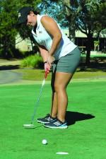 Golf swings at NCAA