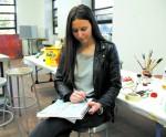 Artist begins career while in school