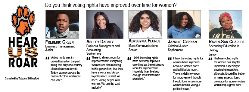 TALK BACK: Do you think voting rights have improved over time for women?