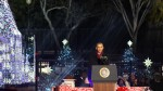 President Obama, Family Light the National Christmas Tree for the Final Time
