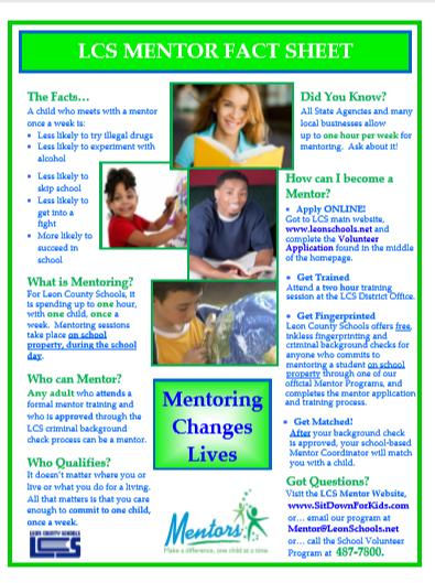 Leon County Schools  always needs mentors