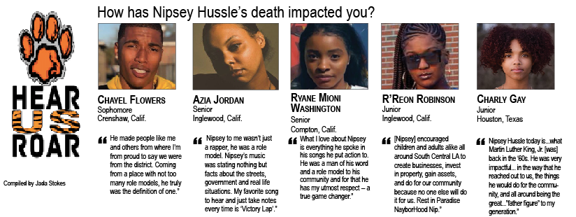 TALK BACK: How has Nipsey Hussle's death impacted you?
