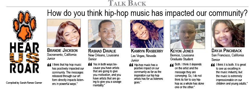 Talk Back: How do you think hip-hop music has impacted our community?