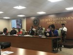 Students discuss new ventures at Monday night's senate meeting