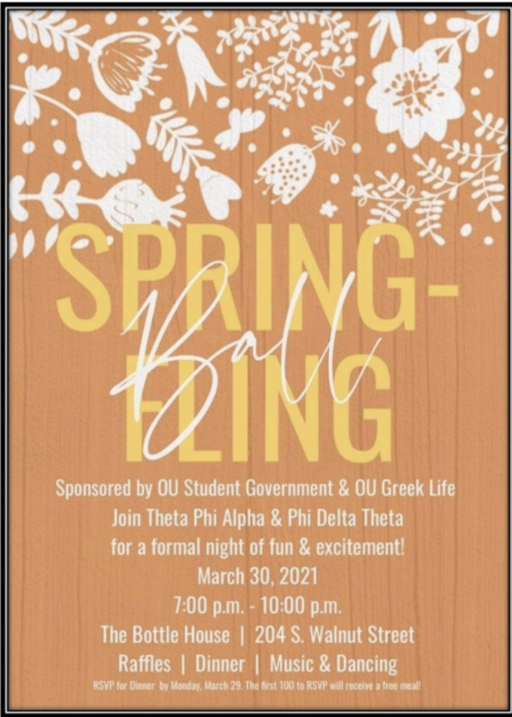 Spring Fling to be the first since 2019