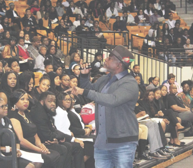 David Banner speaks at convocation
