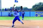 Softball dominates home opener