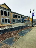 Watch the fitness center's construction