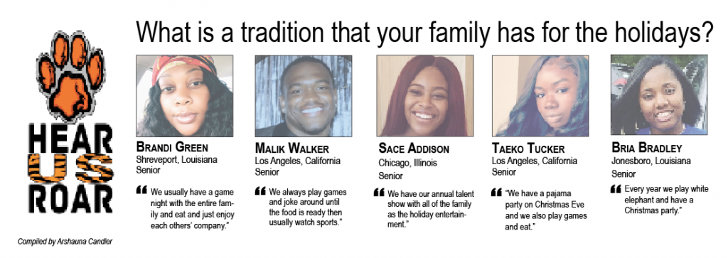 Talk Back: What is a tradition that your family has for the holidays?