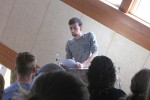 Students Present Poetry and Short Stories at First Reading of Semester