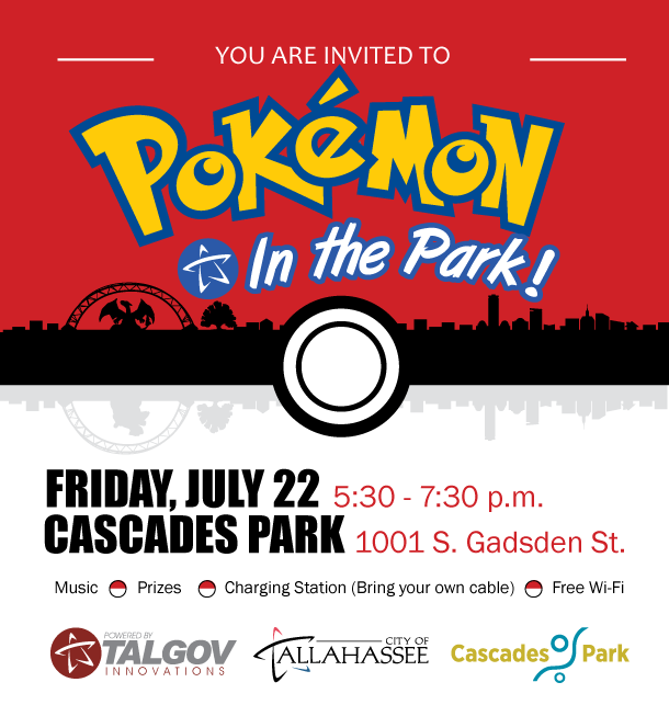 Pokémon Go takes Cascades Park