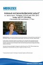 Holocaust and Genocide Memorial Lecture