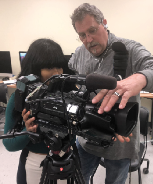 "GSU TV Center's ""Mr. B"" provides hands-on-training"