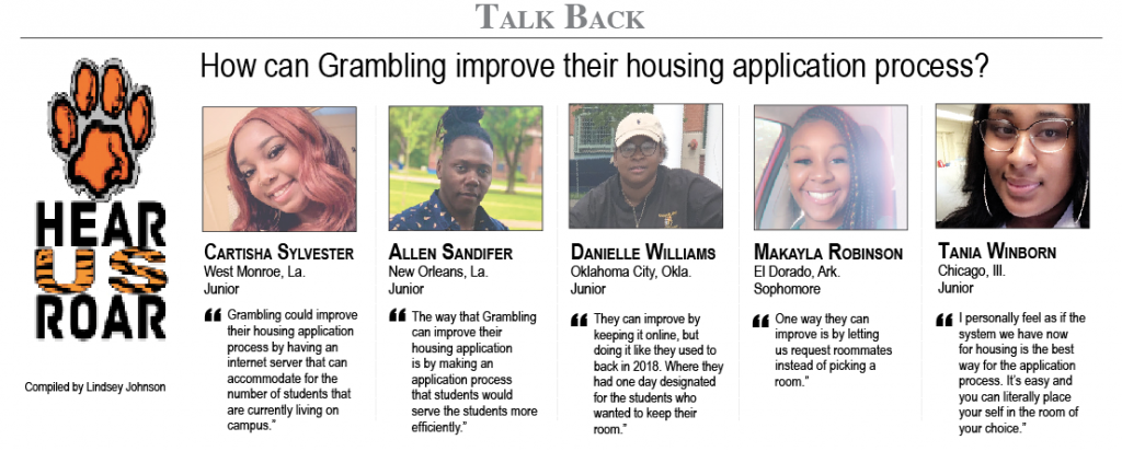 Talk Back: How can Grambling improve their housing application process?