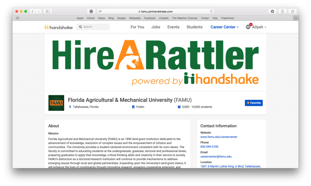 Handshake, a job search database, taking off