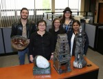 The College President's Office Receives Art Donation from Students