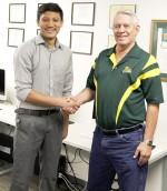 Shrestha receives endowed sports scholarship