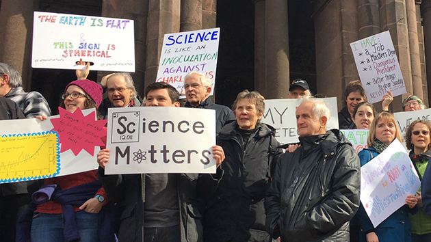 People are gathering across the world to show support for science. SPECIAL TO THE ORACLE