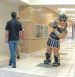 Sparty comes to campus