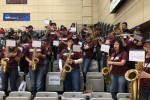 Pep band cheers on Ramapo's basketball teams