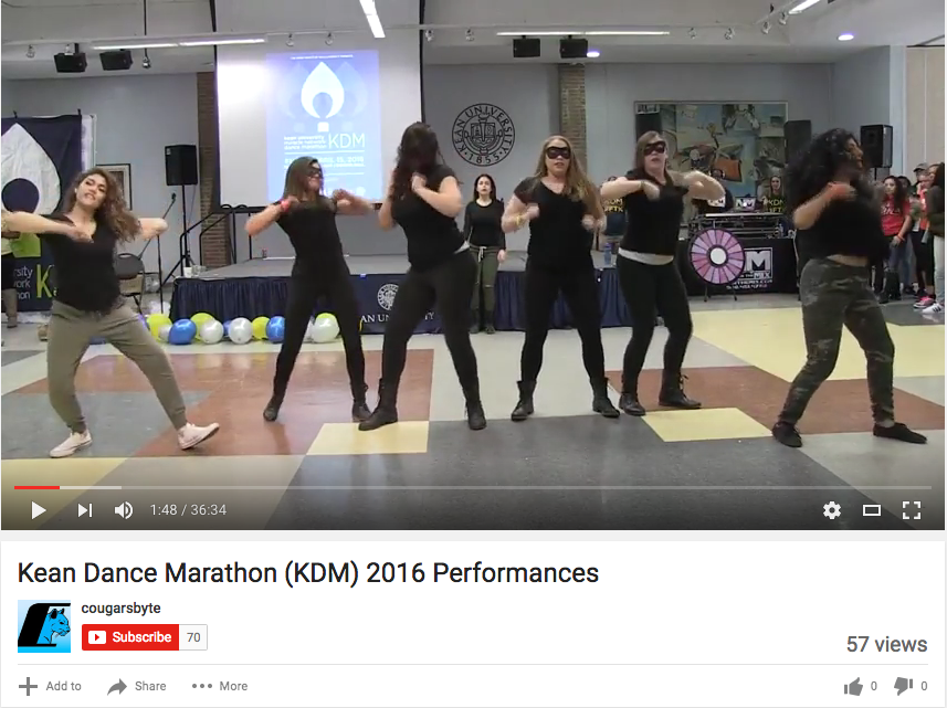 Kean Dance Marathon (KDM) 2016 Performances