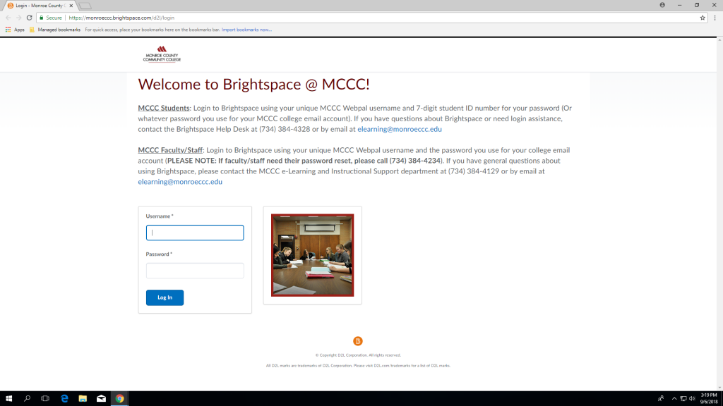 College switches to Brightspace