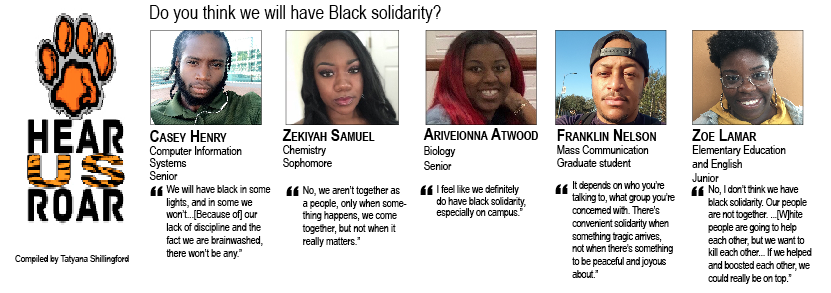 TALK BACK: Do you think we will have Black solidarity?