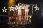 Roads decked with starry floats