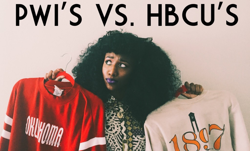 hbcus versus pwis Viewpoint: hbcu vs pwi debate misses the real point of higher education when olivia sedwick made the financially-conscious choice to attend a historically black college over baylor, marquette.