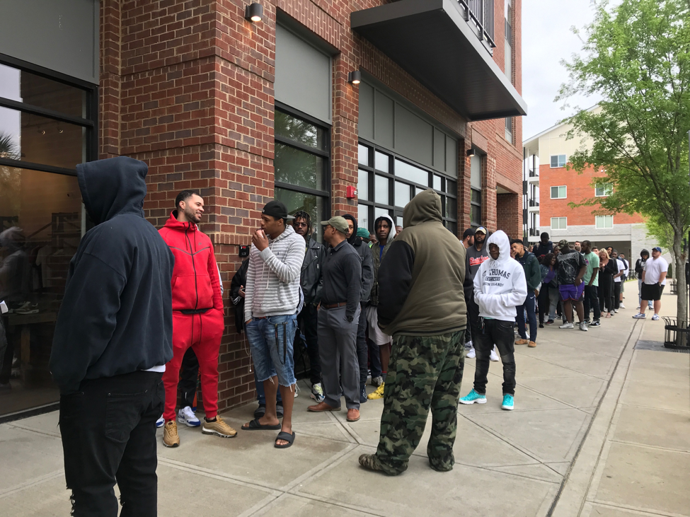 It's all about the shoes as Nike releases draw crowds