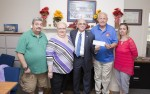 The College's Veterans Service department Receives Donation from the Vets Club at Renaissance at Monroe