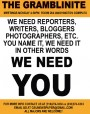 Journalists needed for The Gramblinite