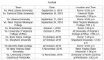 Fall Sports Previews and Schedules