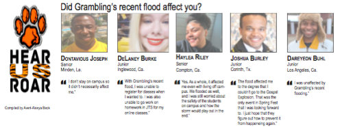 Talk Back: Did Grambling's recent flood affect you?