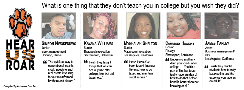 Talk Back: What is one thing that they don't teach you in college but you wish they did?