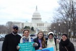 Students make their way to DC for the 45th annual March for Life