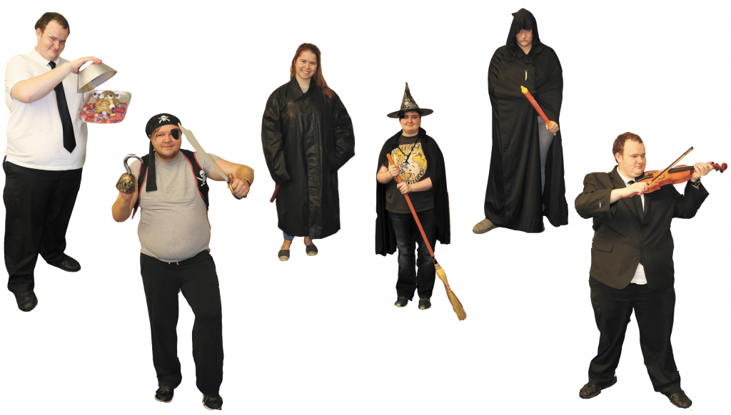 Hauntingly simple costumes