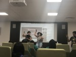 Sigma Gamma Rho engages with the rattler community through karaoke night