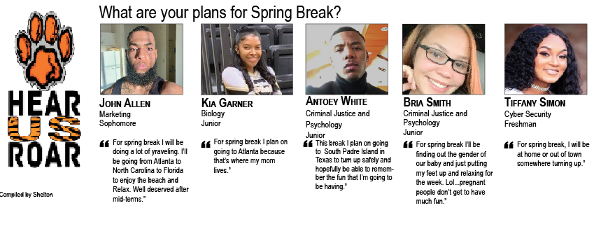 Talk Back: What are your plans for spring break?