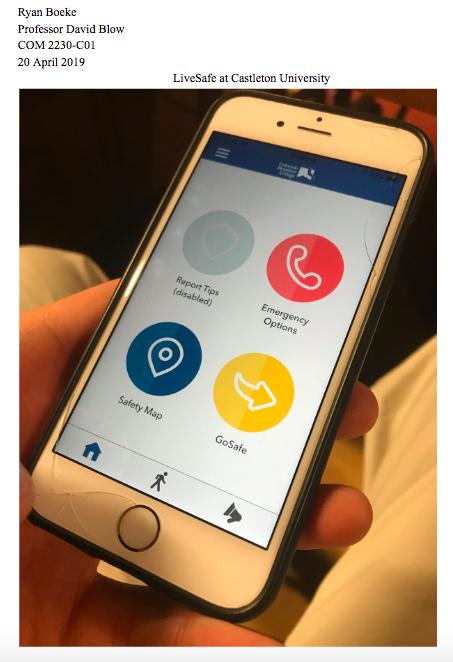 Molinari seeks 'Livesafe' app for Castleton