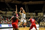 Women's basketball struggles early, come out on top over SMU 64-54