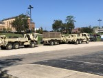 The Army National Guard stationed on FAMU's Campus for helping hands