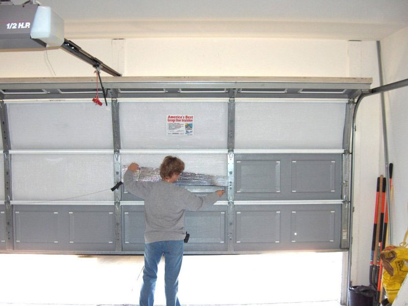 board garage doors foam construction insulate to repair insulation for wonderhowto a with how warmer insulating door winter
