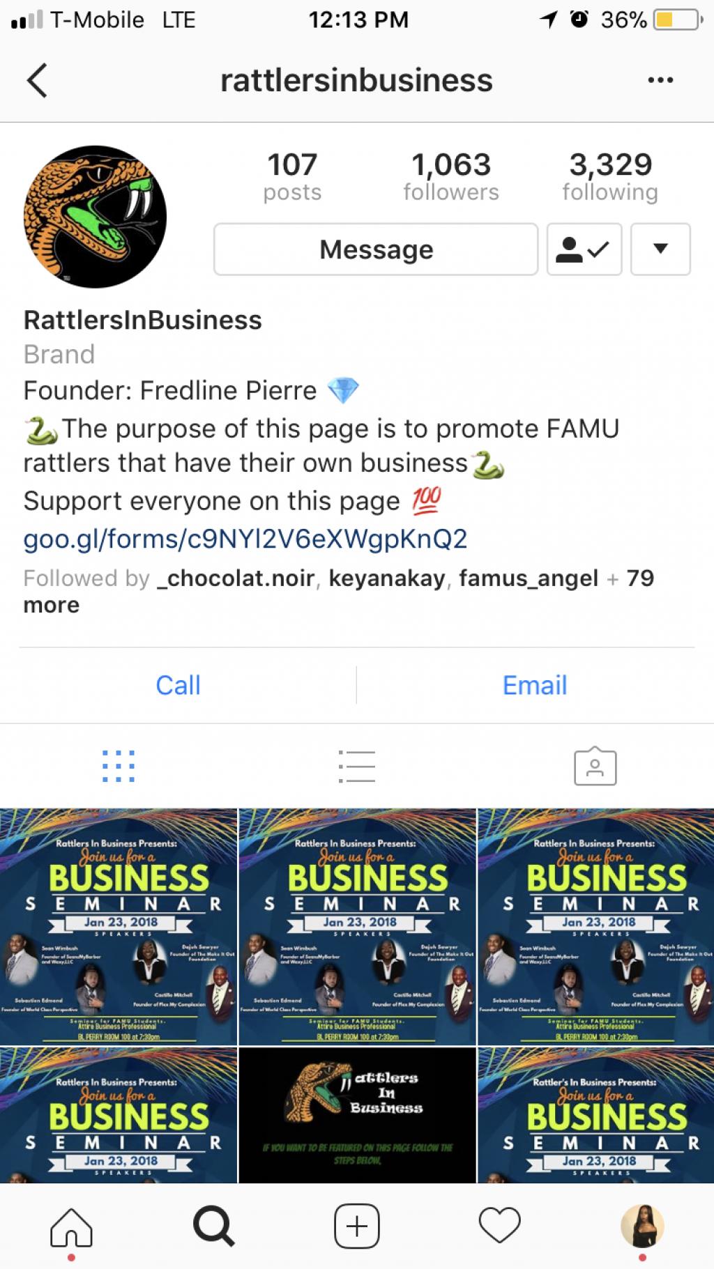 FAMU entrepreneurs unite on Instagram