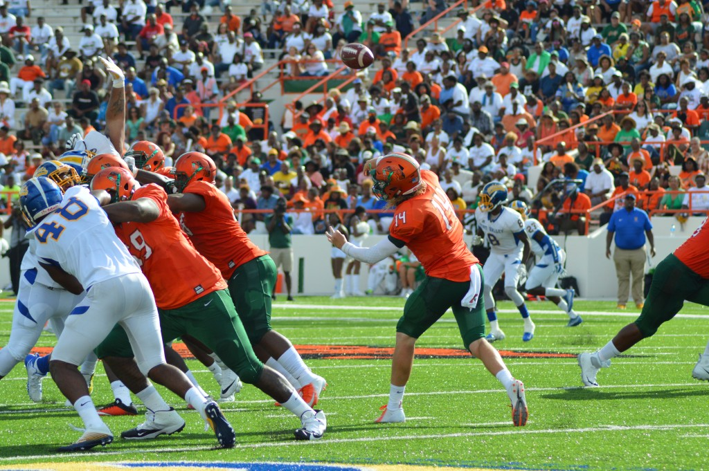 FAMU quarterback Ryan Stanley throwing for 115 yards and two TDs against Fort Valley State
